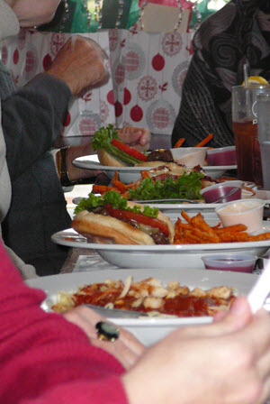 photo of Christmas lunch at Sensory World