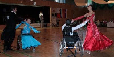 photo of ballroom dancing with wheelchair partner