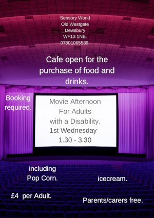 poster for Movie Afternoon for adults with a disability